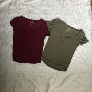 American Eagle button up tops
